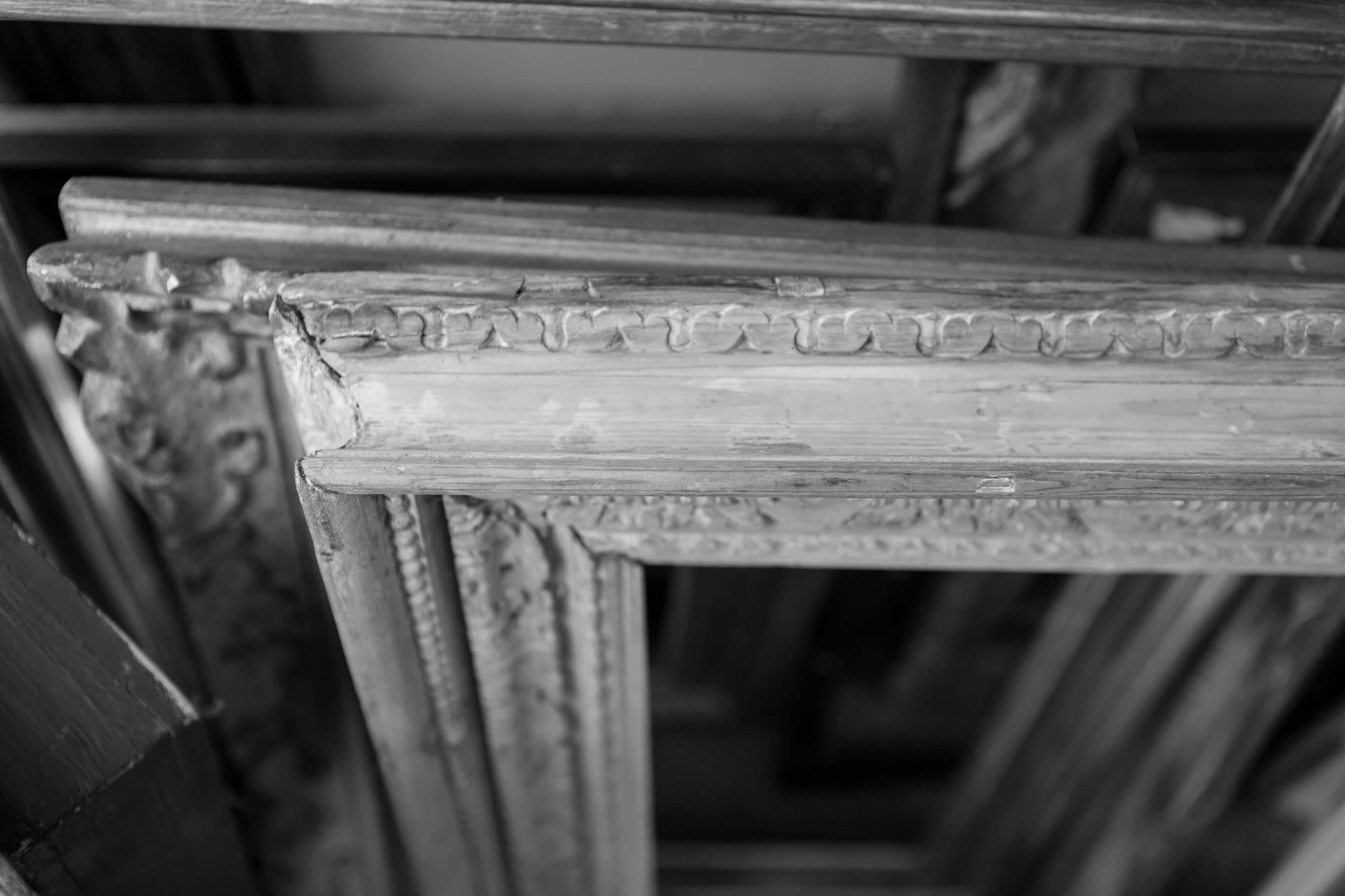 At Bourlet we collect original period frames to ensure that our reproductions are faithful to the period.