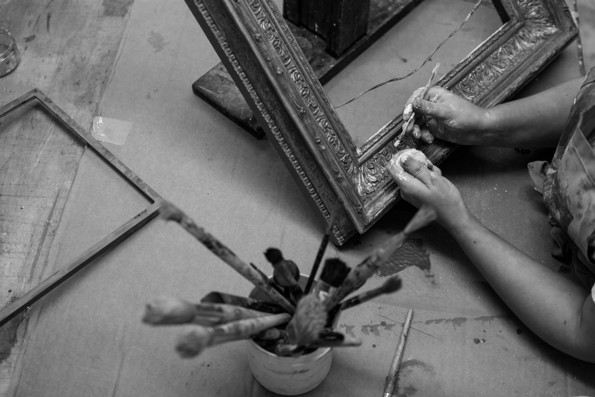 At Bourlet our restoration work sometimes requires the combination of carving, composition, gilding and colouring skills.