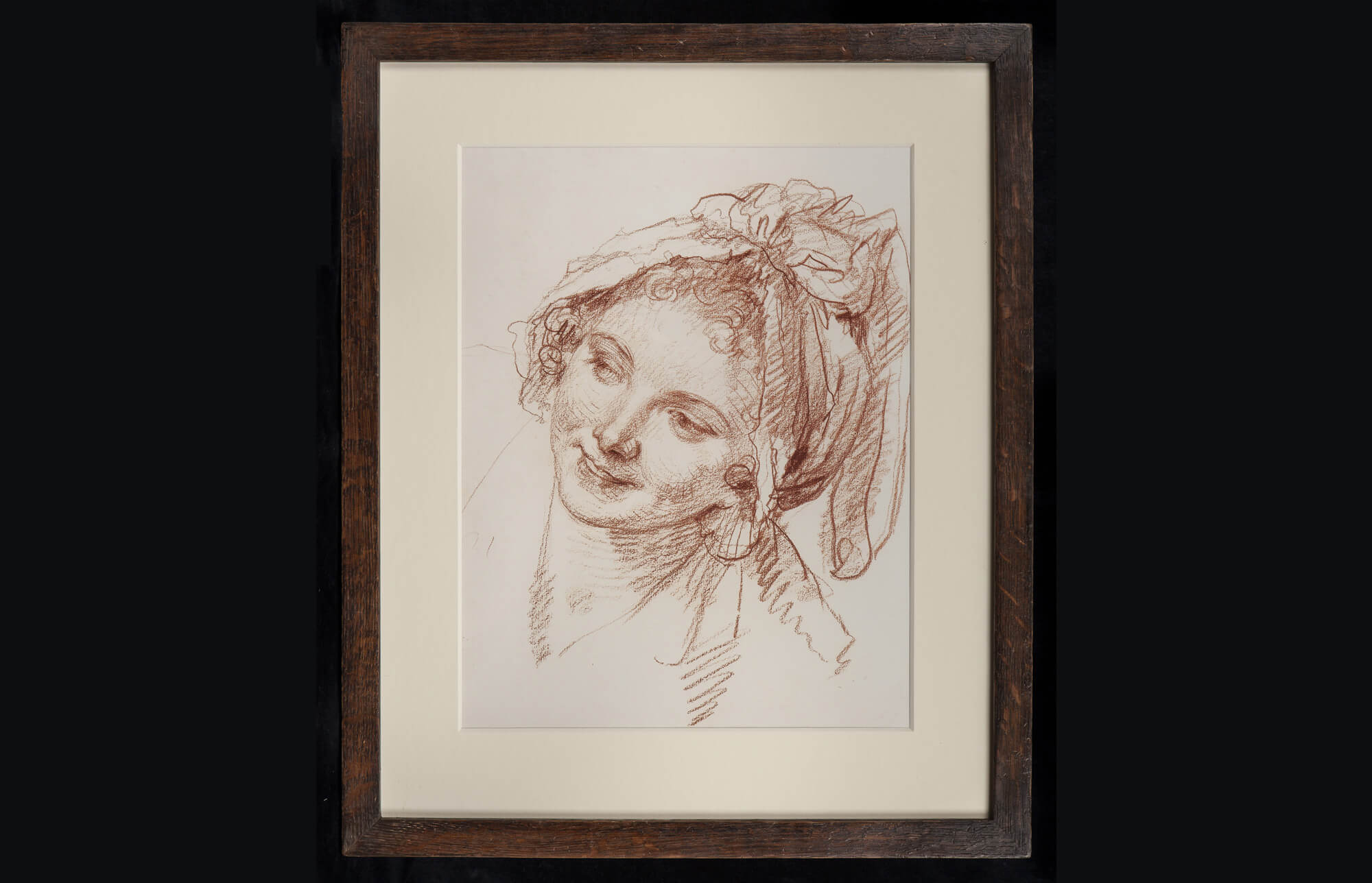 Old master Italian red chalk drawing