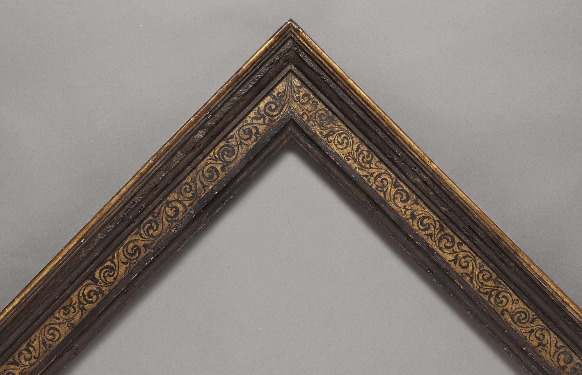16th Century Cassetta with stencil panel